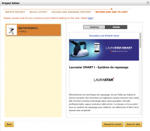 Mobile preview in Amazon Vendor Central can be easily selected from the Preview page